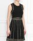 Платье из вискозы декорированное заклепками Michael by Michael Kors  –  МодельВерхНиз