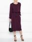 Платье из шерсти с драпировкой Alberta Ferretti  –  МодельОбщийВид