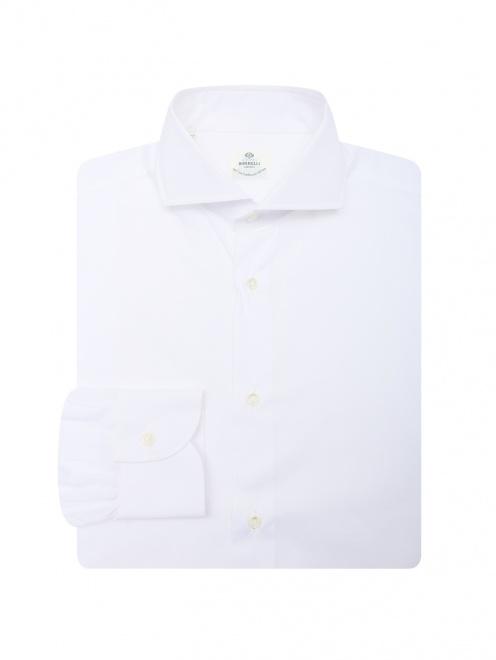 Рубашка их хлопка однотонная  - Общий вид