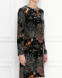 Платье из бархата с рисунком Alberta Ferretti  –  МодельВерхНиз