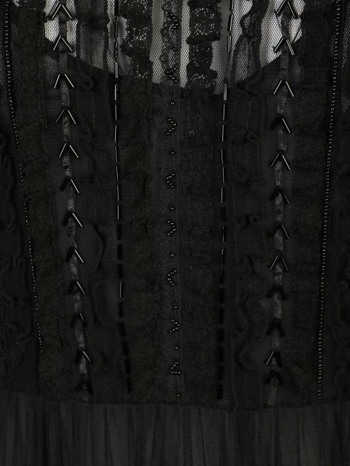 Платье из сетки расшитое бисером  - Деталь1
