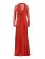Платье-макси из шелка с драпировкой Alberta Ferretti  –  Общий вид