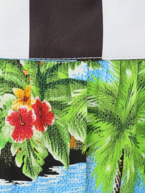 Юбка из хлопка с гавайским узором - Деталь