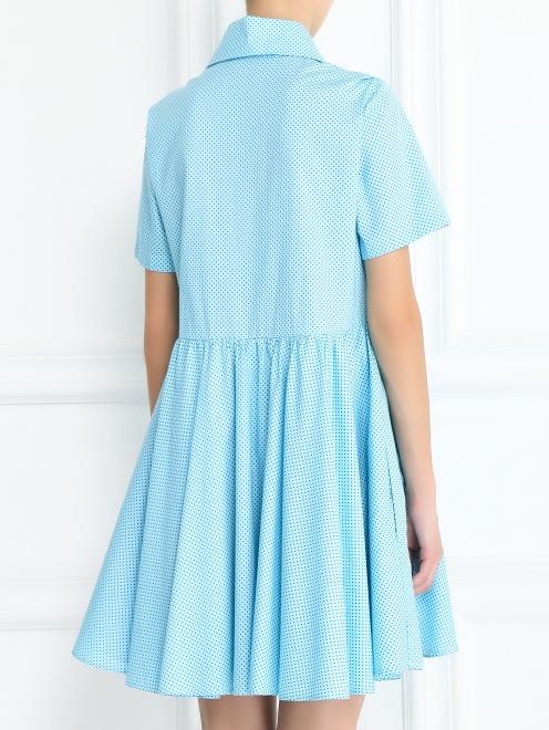 Платье-мини из хлопка с узором - Модель Верх-Низ1