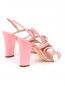 Босоножки из кожи на устойчивом каблуке Moschino Boutique  –  Обтравка2