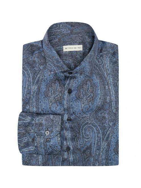 """Рубашка из хлопка с узором """"пейсли"""" - Общий вид"""