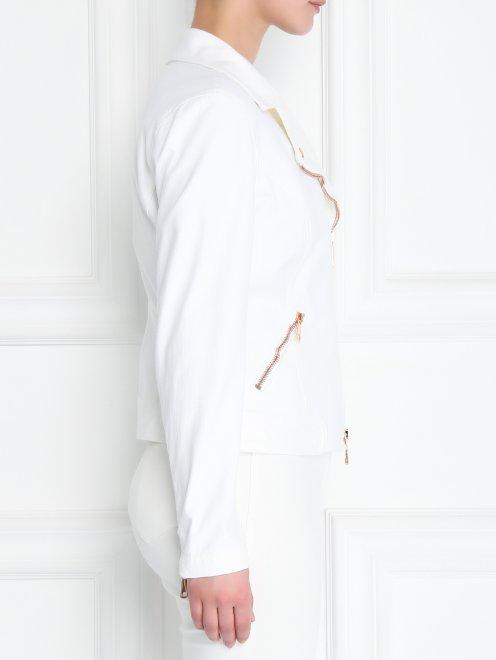Куртка-косуха из эластичного денима - МодельВерхНиз2