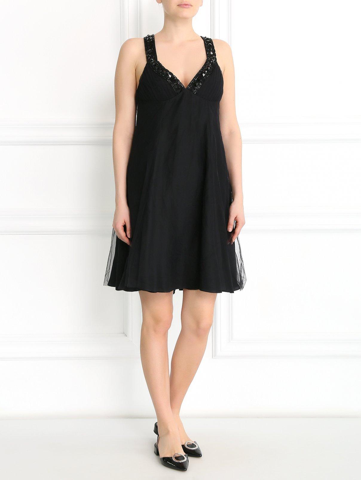 Платье декорированное бисером Emporio Armani  –  Модель Общий вид