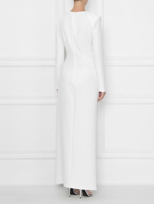 Платье макси с декором стразами - МодельВерхНиз1