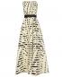 Платье-макси из смешанного шелка с поясом Pianoforte  –  Общий вид