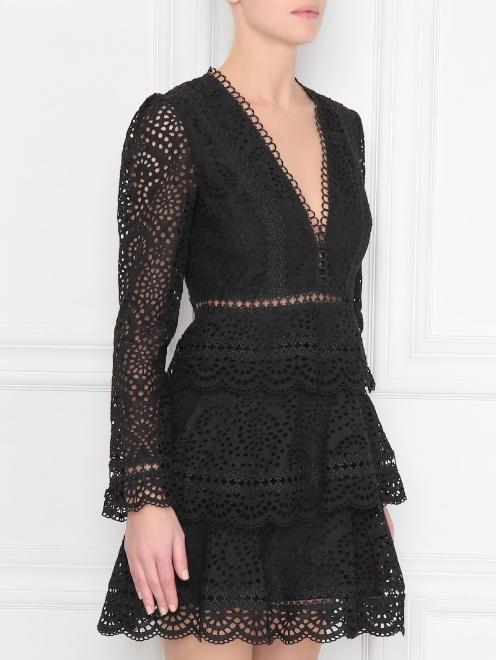 Платье кружевное, из хлопка - МодельВерхНиз