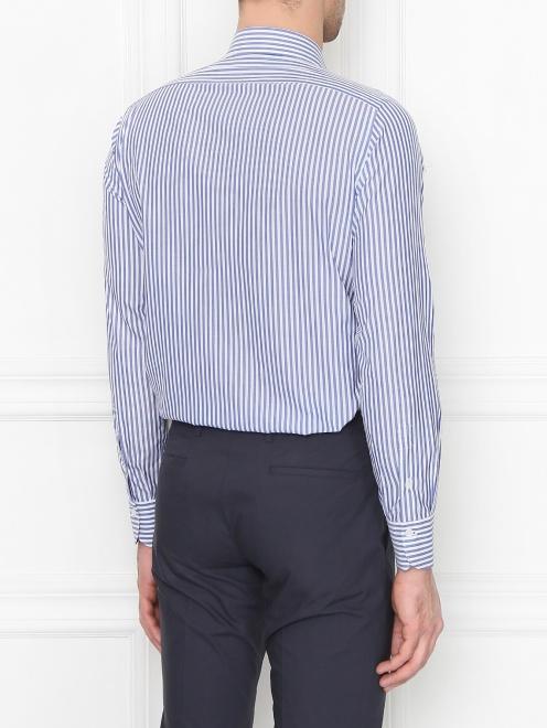 Рубашка из хлопка в полоску - МодельВерхНиз1