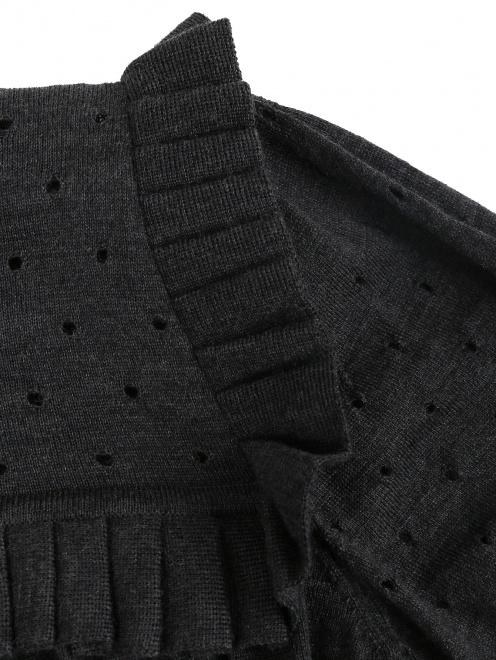 Джемпер из шерсти свободного кроя с декоративной отделкой - Деталь1