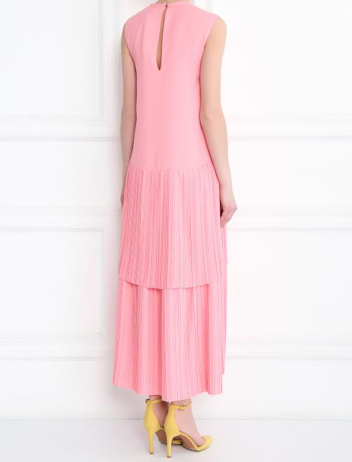 Платье-макси свободного кроя без рукавов - МодельВерхНиз1