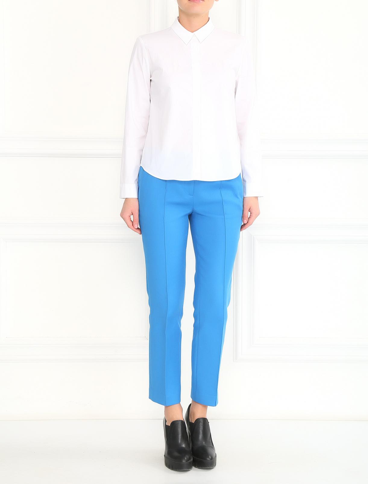 Узкие укороченные брюки Jil Sander Navy  –  Модель Общий вид