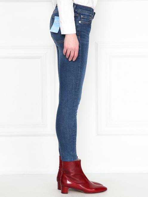 Укороченные джинсы зауженного кроя  - МодельВерхНиз2