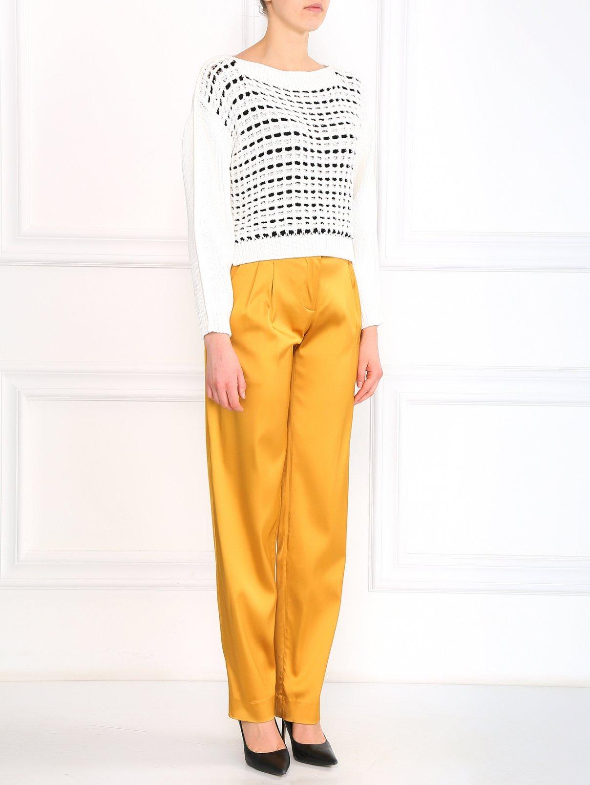 Широкие брюки с высокой посадкой Au Jour Le Jour  –  Модель Общий вид  – Цвет:  Золотой