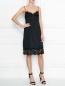 Платье из шелка и хлопка с кружевной отделкой N21  –  МодельОбщийВид