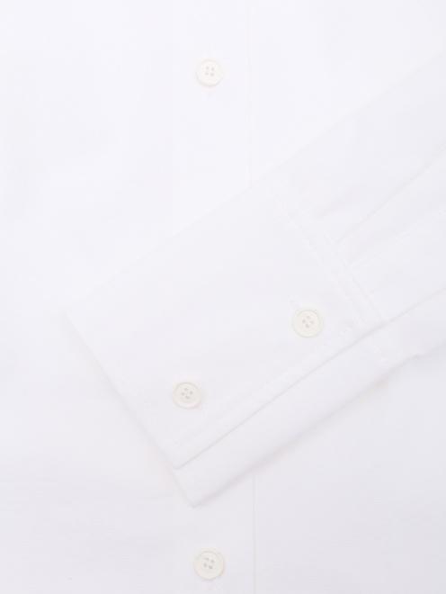 Рубашка из хлопка с декоративным воротом - Деталь1