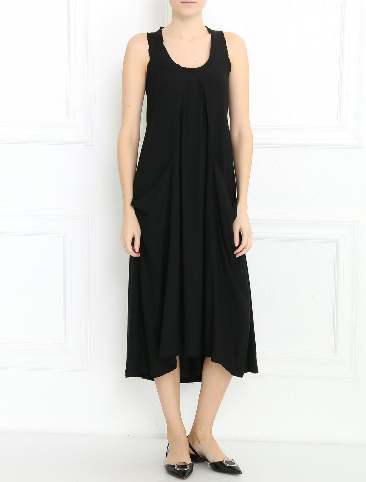 Платье из трикотажа с декоративной отделкой Donna Karan  –  Модель Общий вид
