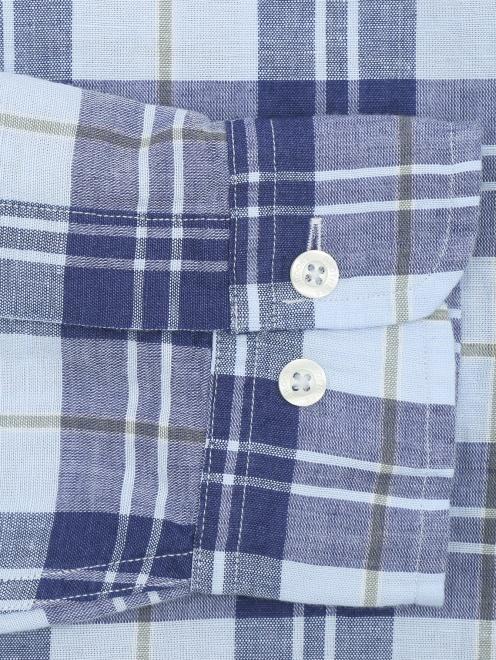 Рубашка из хлопка и льна с узором - Деталь1