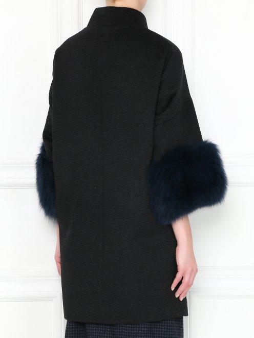 Пальто из шерсти с рукавами 3/4 - МодельВерхНиз1