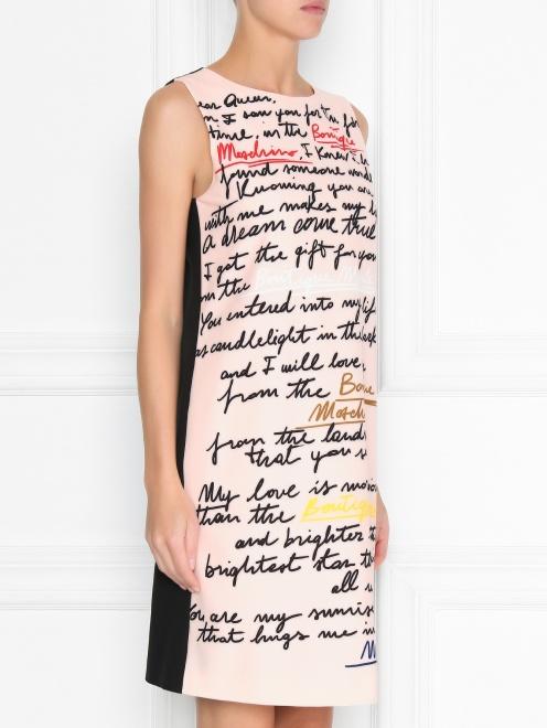 Платье прямого кроя с узором - МодельВерхНиз