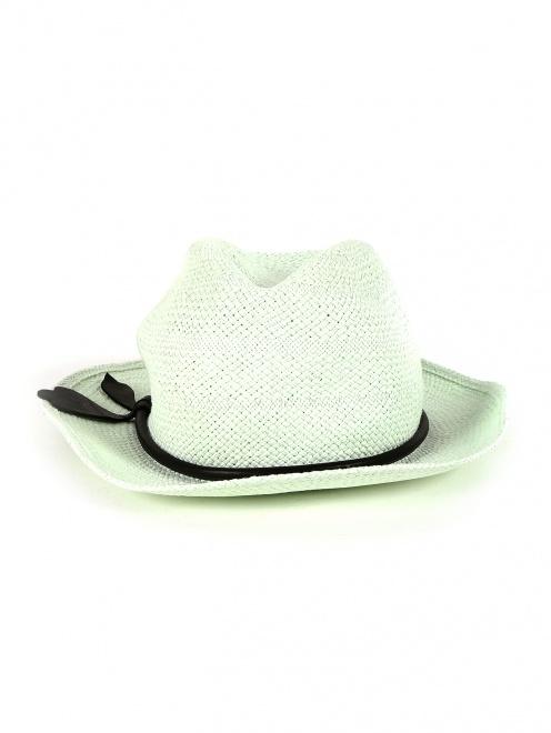 Шляпа из соломы с отделкой из кожи - Обтравка1