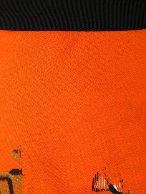 Юбка из вискозы с цветочным узором  - Деталь1