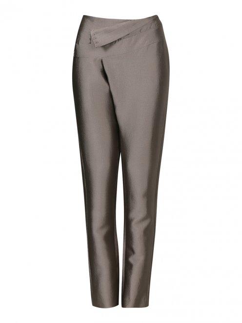 Прямые брюки с декорацией - Общий вид