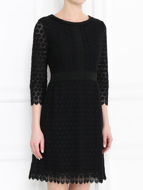 Платье-мини из хлопка с рукавами 3/4 - МодельВерхНиз