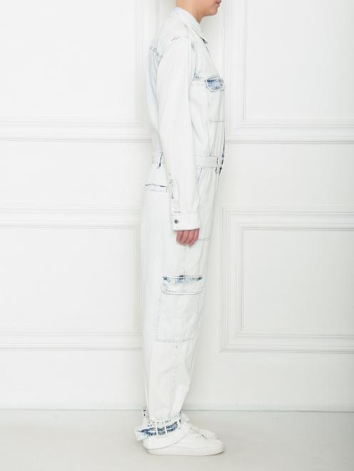Комбинезон из светлого денима с карманами - МодельВерхНиз2