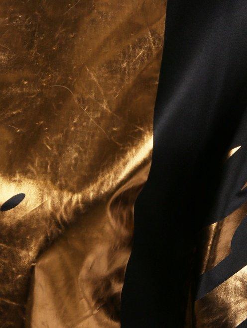 Асимметричное платье-мини из шелка с принтом - Деталь1