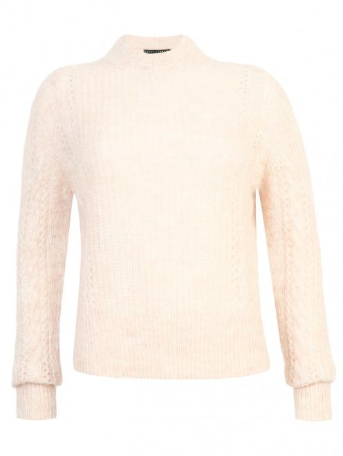 Джемпер из смешанной шерсти ажурной вязки - Общий вид