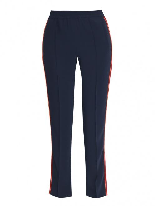 Спортивные брюки на резинке с лампасами - Общий вид