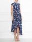 Платье-макси из шелка с узором без рукавов Weekend Max Mara  –  МодельВерхНиз