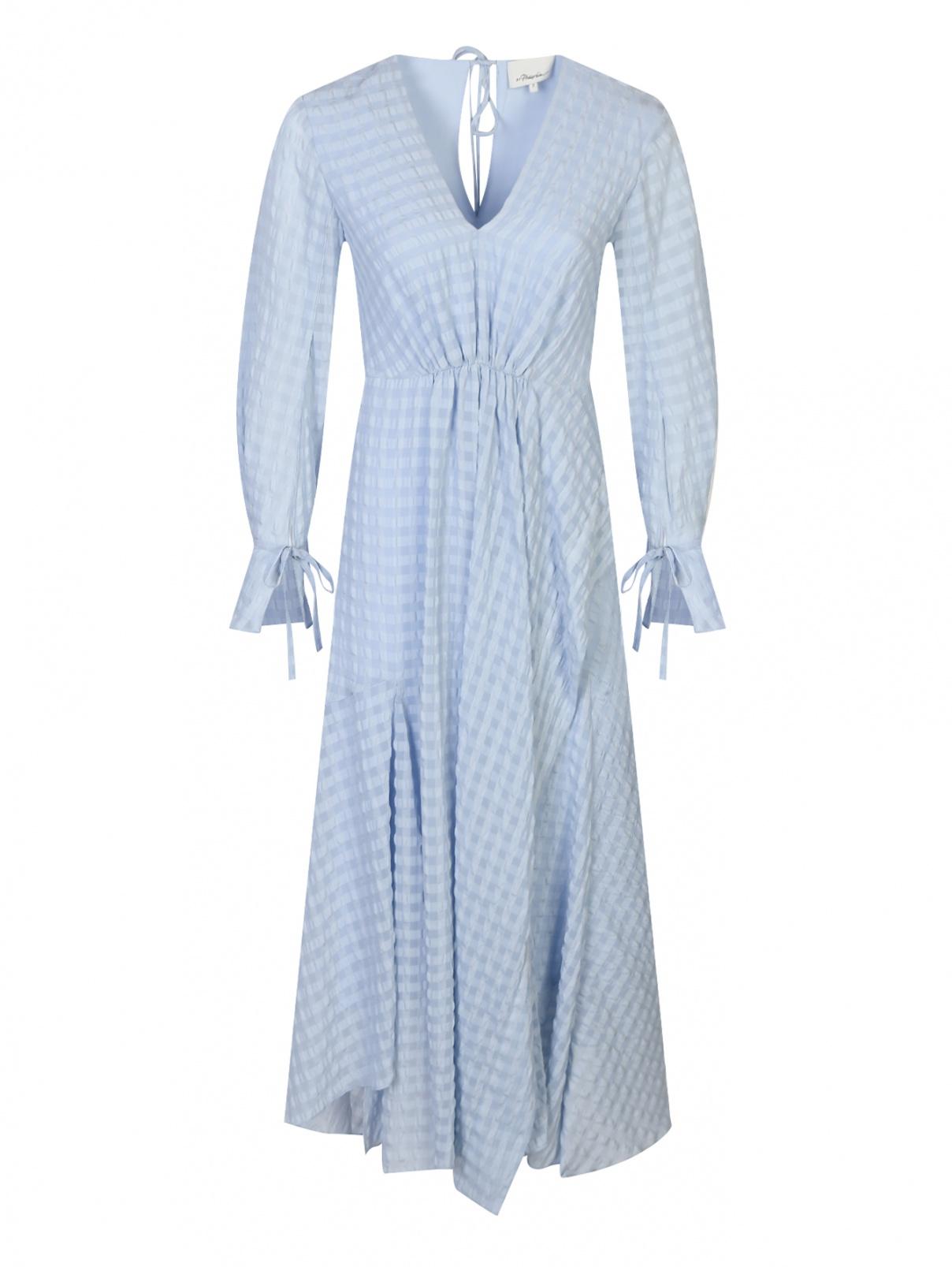Платье-миди свободного кроя 3.1 Phillip Lim  –  Общий вид  – Цвет:  Синий
