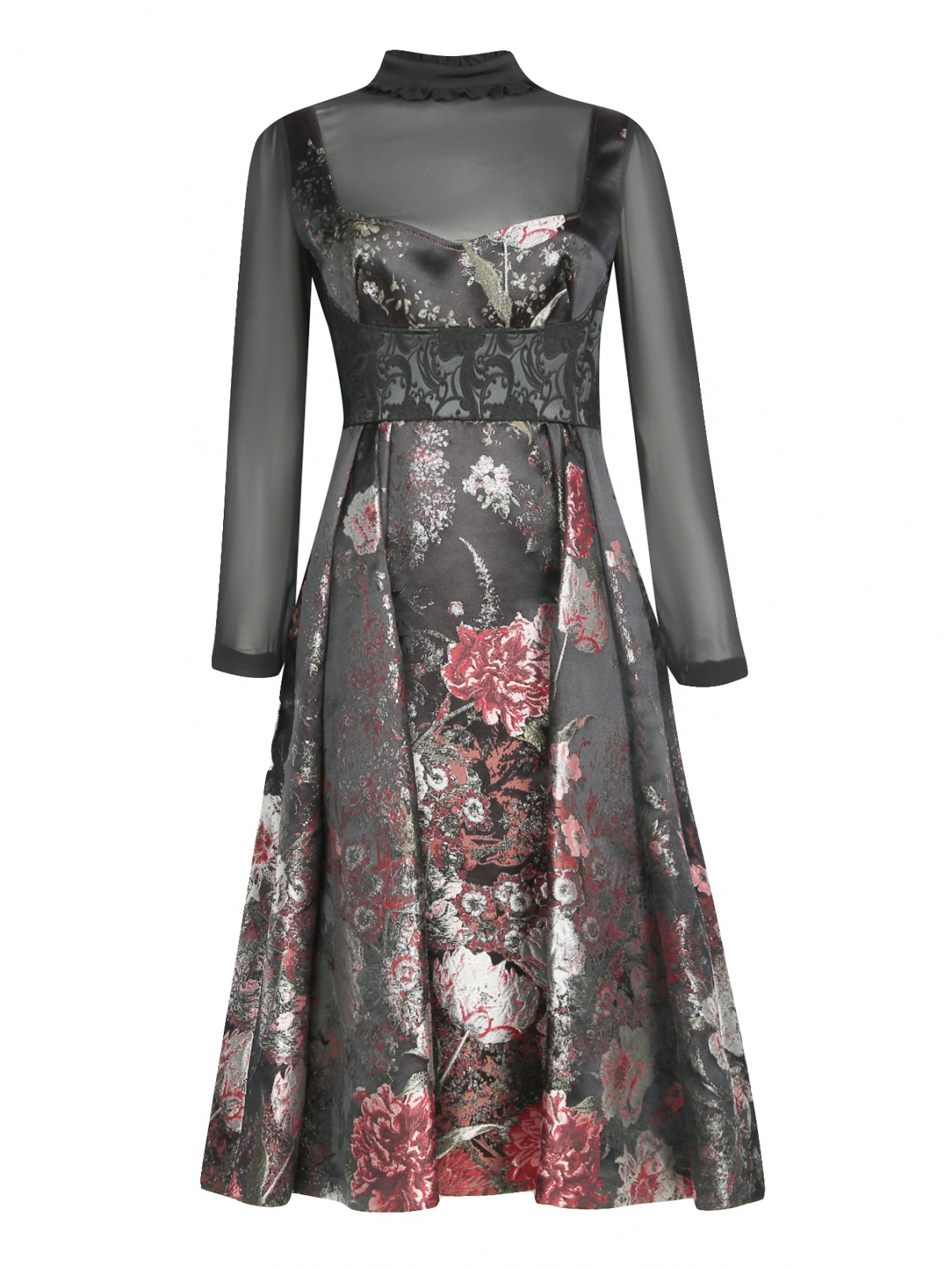 Платье-миди из смешанного шелка с цветочным узором Antonio Marras  –  Общий вид