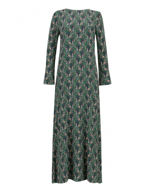 Платье макси прямого фасона с принтом  - Общий вид