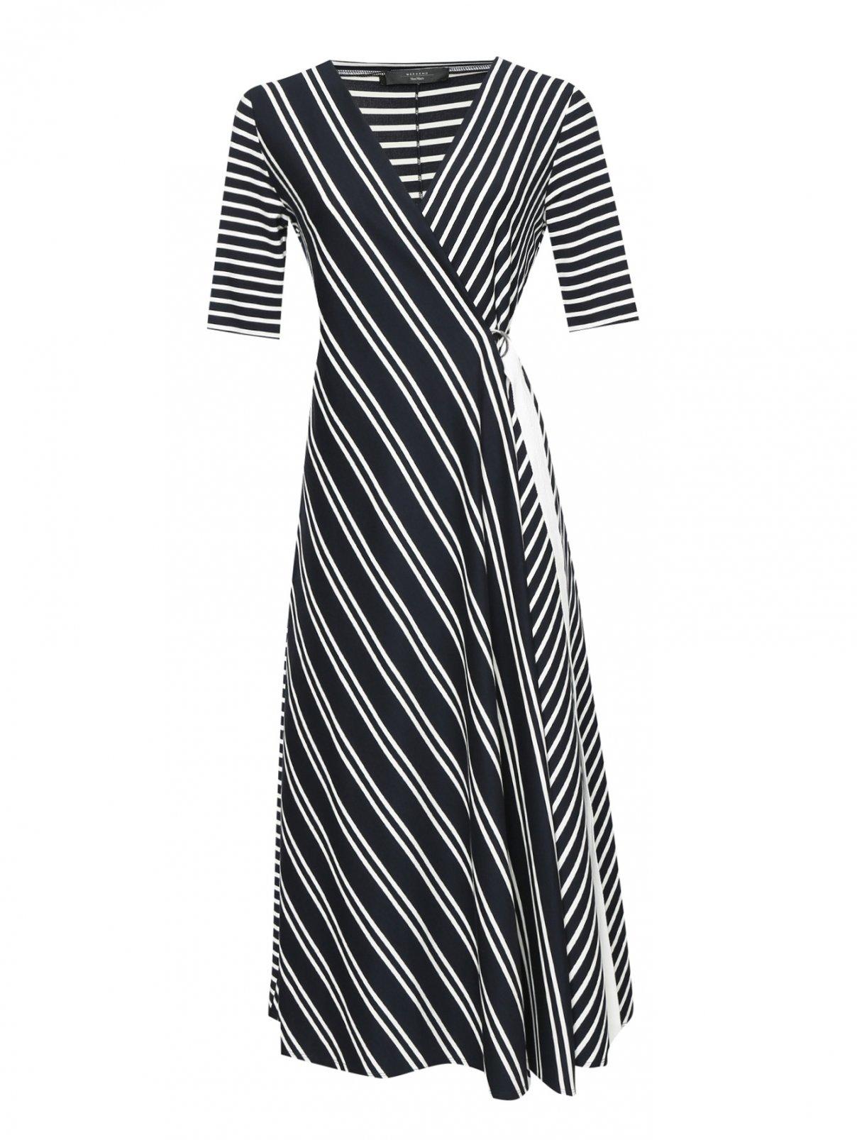 Платье с запахом из джерси в полоску Weekend Max Mara  –  Общий вид