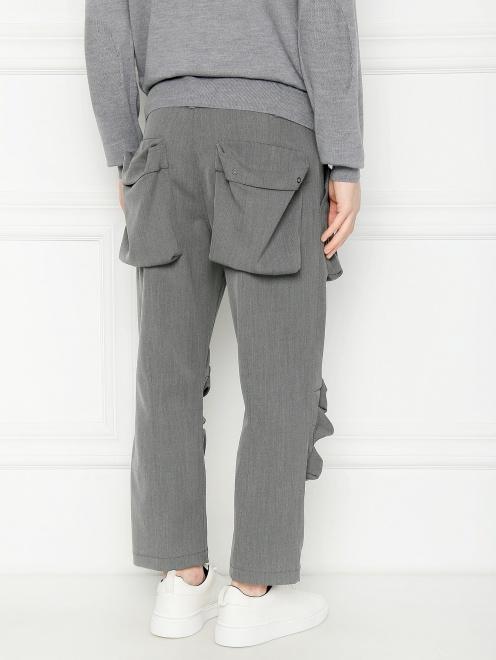Брюки из смешанной шерсти с накладными карманами  - МодельВерхНиз1