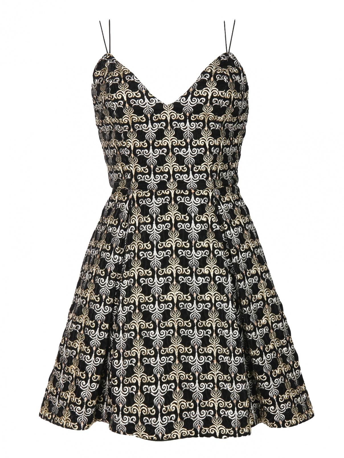 Платье-мини с декоративной вышивкой Alice+Olivia  –  Общий вид