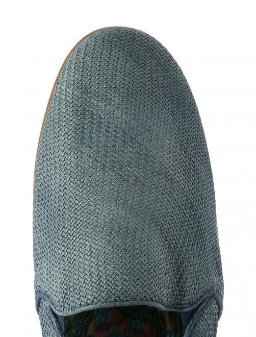 Лоферы плетеные из кожи - Обтравка3