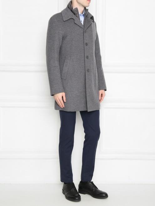 Пальто из кашемира на пуговицах  - Общий вид