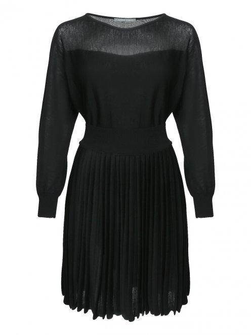 Трикотажное платье из шерсти - Общий вид