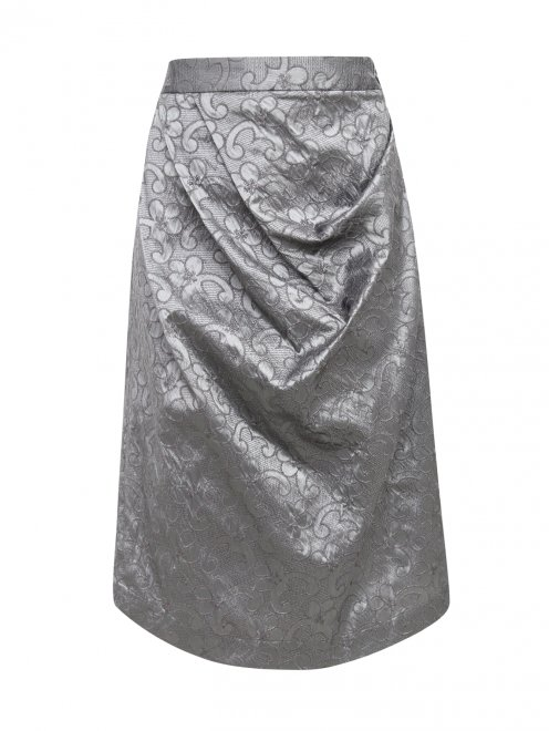 Асимметричная юбка с драпировкой - Общий вид