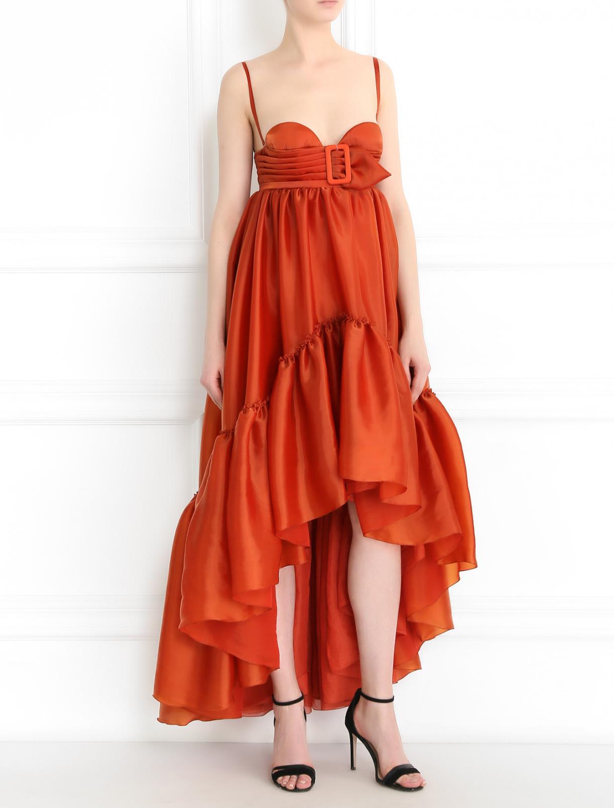 Платье-бюстье с воланом Jean Paul Gaultier  –  Модель Общий вид