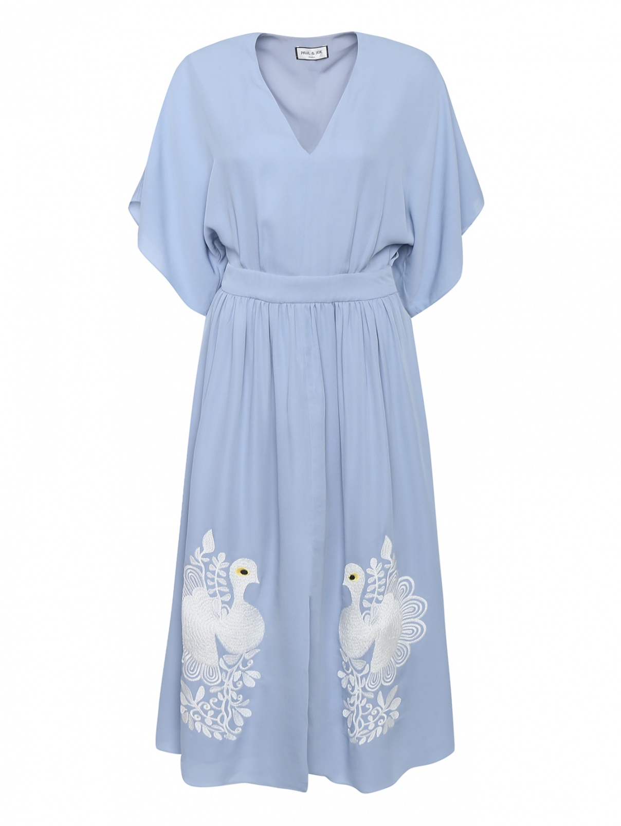 Платье миди из шелка с вышивкой Paul&Joe  –  Общий вид