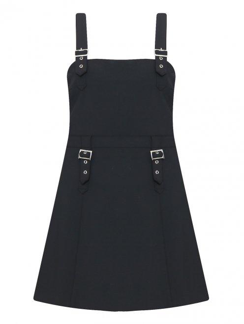 Платье-мини с металлической фурнитурой - Общий вид