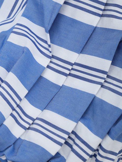 Блуза из хлопка с узором полоска - Деталь